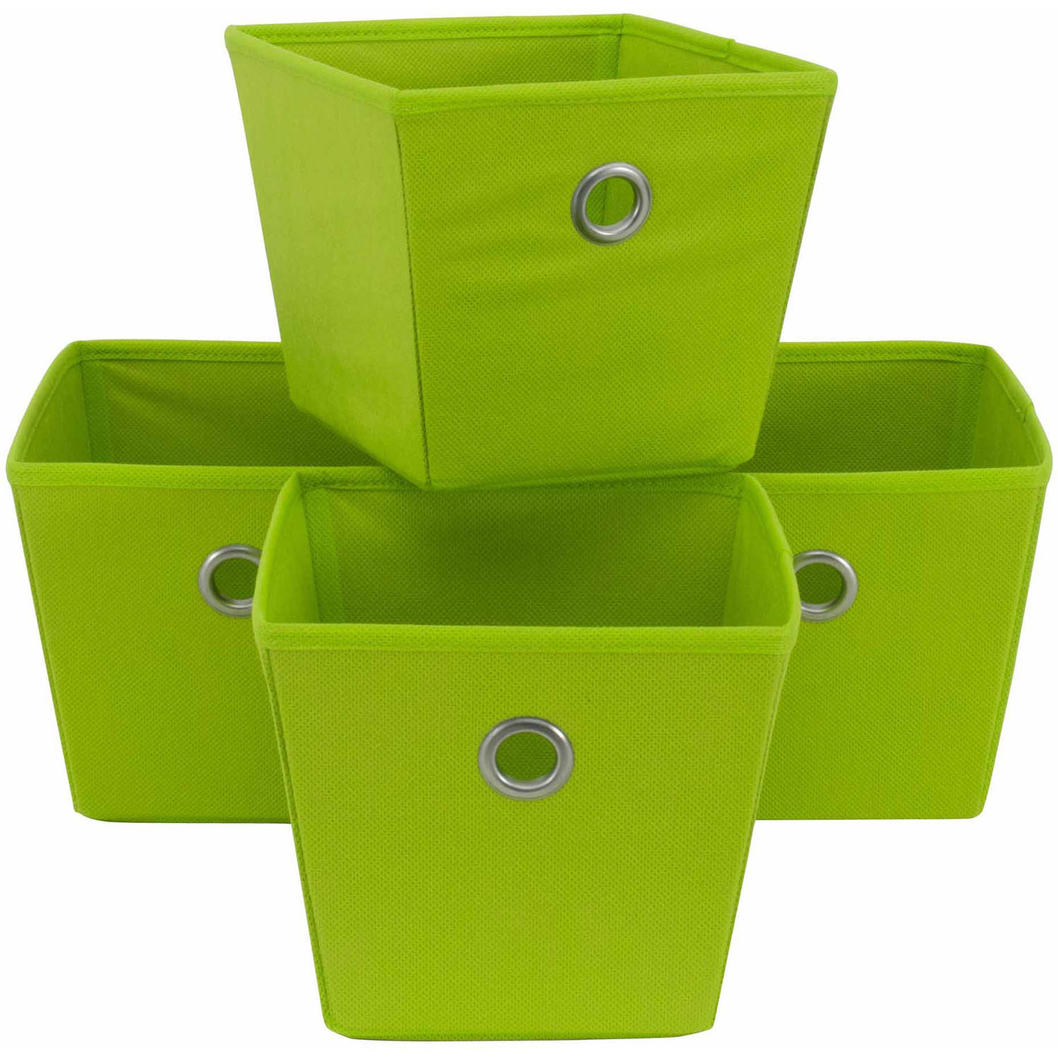 Nice Mainstays Non Woven Bins, 4 Pack, Multiple Colors