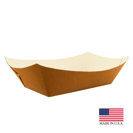 Specialty Quality Packaging 8130 PEC Kraft & White No. 50 Eco Friendly Food Tray - Pack of 1000