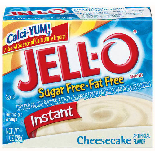 Jell-O Sugar Free & Fat Free Cheesecake Instant Pudding & Pie Filling, 1 oz
