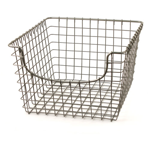 Spectrum Scoop Medium Basket, Satin Nickel