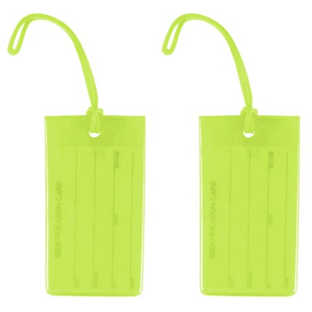 Miami CarryOn Jelly Luggage Tags / Business Card Holder / Travel ID Bag Tags - Set of (Cpap Medical Equipment Carry On Luggage Tag)