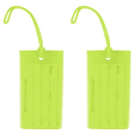 Miami CarryOn Jelly Luggage Tags / Business Card Holder / Travel ID Bag Tags - Set of 2 ()