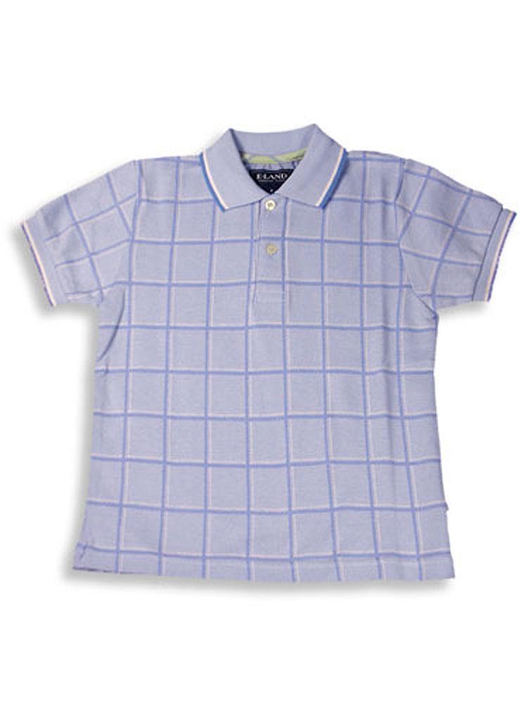 E-Land - Little Boys Short Sleeved Polo Shirt Light Blue / 4