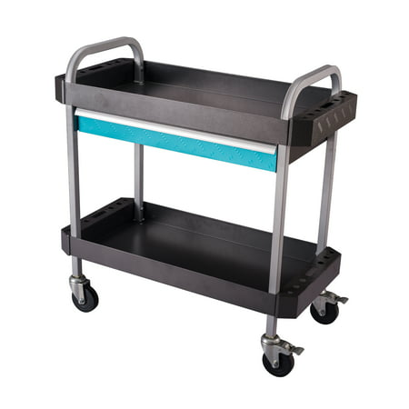 Frontier 30.3 in.W x 16.3 in.D x 35 in H, Steel Single Drawer Tool Cart with, side tool organizers