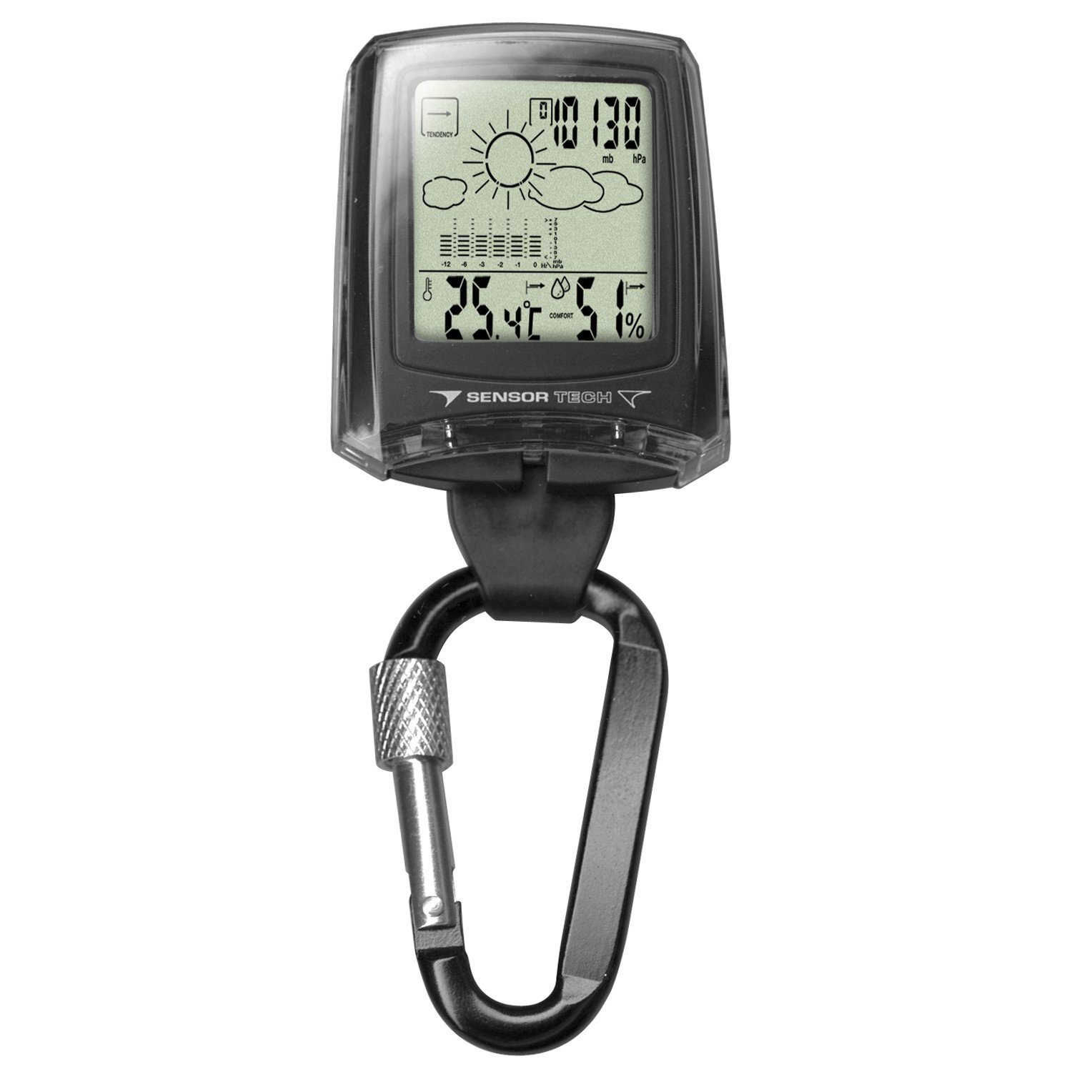 Dakota Weather Station Clip Watch, Company Waterproof Altimeter Black Input Marine 35mm MHS126 Sports Microlight... by