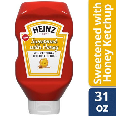 Ketchup Bottle Sizes (Heinz Sweetened with Honey Reduced Sugar Tomato Ketchup 31 oz)