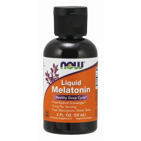 NOW Supplements, Liquid Melatonin, 3 mg Per Serving, Fast Absorbtion and Great Taste, (Iron Supplements For Kids That Taste Good)