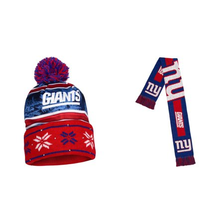 NFL  Big Logo Scarf And Beanie Wordmark Hat 2 Pack Bundle