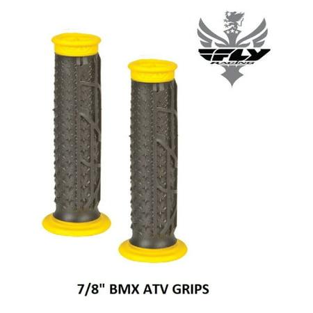 "Fly Racing Pilot II Grips Black Yellow 7/8"" BMX ATV 20"" 24"" Race Cruiser S&M - Walmart.com"