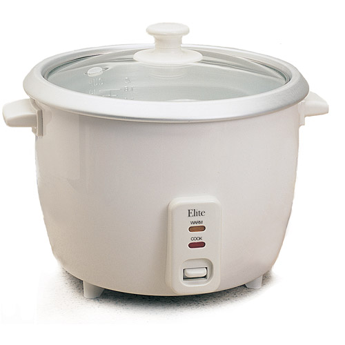 Elite Cuisine 3-Cup Rice Cooker
