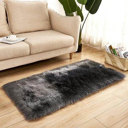 Long Plush Ultra Soft Fluffy Rugs Rectangle Shape Faux Sheepskin Wool Carpet Rug for Living Room Bedroom Balcony Floor Mats