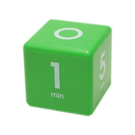 Cube Timer 1-5-10-15 minute preset timer- Green (Df 01b Timer)