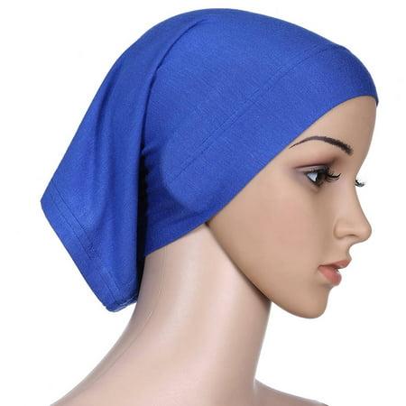 Fancyleo Women s Muslim Islamic Solid Cotton Hijab Cap Head Scarf Shawl  Turban Headbands - Walmart.com b6344e0a56c