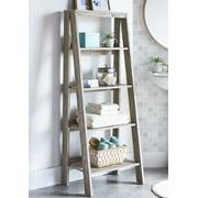 Better Homes & Gardens Modern Farmhouse Bathroom Etagere Ladder, Rustic Gray Finish