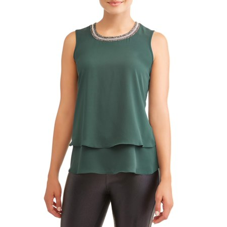 Women's Sleeveless Jewel Neck -
