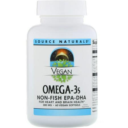 Source Naturals Vegan Omega-3s EPA-DHA -- 300 mg - 60 Vegan