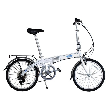 Ford By Dahon Bikes Convertible 7 Speed Light Portable Folding Bicycle  White