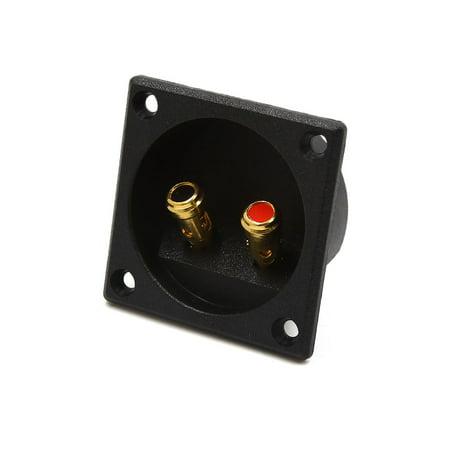 2 Way Black Car Binding Post Speaker Box Terminal Cup Plate Connector (2 Way Supply Board)