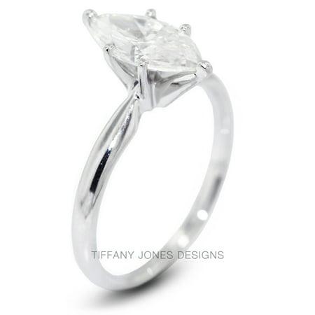 1.22ct D-VS2 Ex Marquise Natural Diamond 18k Gold Classic Solitaire Ring 3.4gram Marquise Vs2 Loose Diamonds