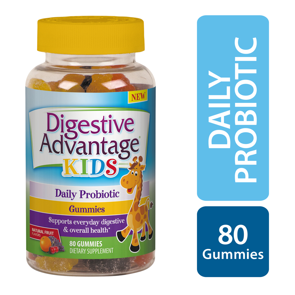 Digestive Advantage Kids Daily Probiotic Gummies, 80 count