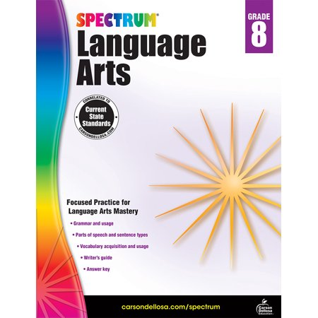 - Carson Dellosa CD-704595 Spectrum Language Arts Gr 8
