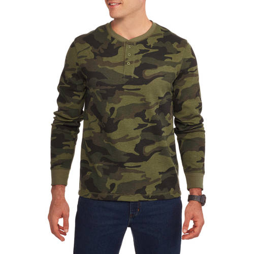 Faded Glory Big Men's Long Sleeve Thermal Henley