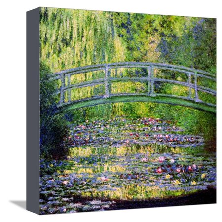 The Waterlily Pond with the Japanese Bridge, 1899 Scenic Floral Botanical Impressionism Stretched Canvas Print Wall Art By Claude Monet