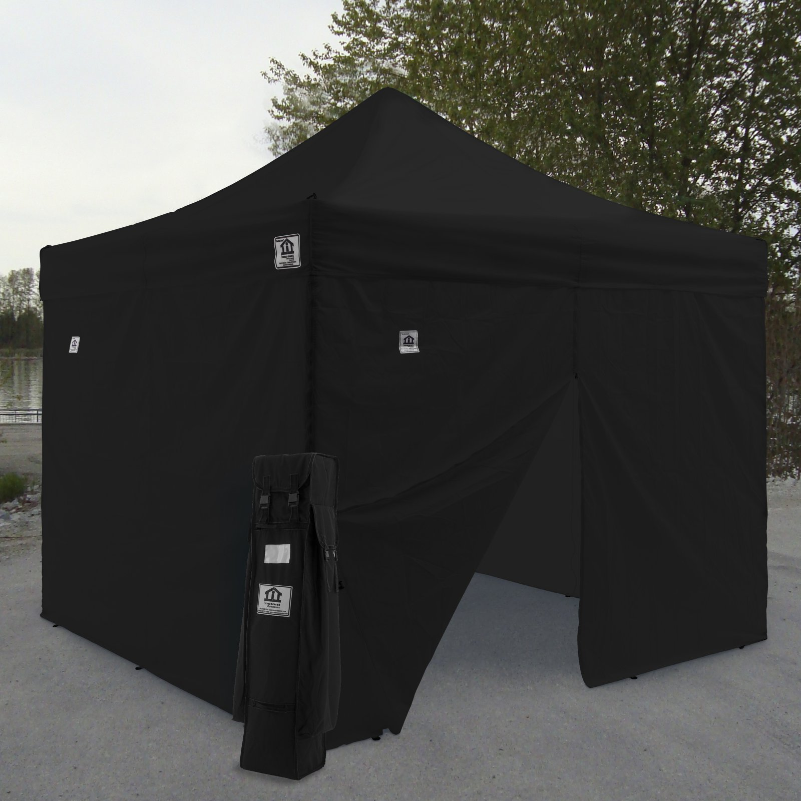 Impact Canopy AOL 10x10 ft. Ez Pop Up Canopy Tent Instant Canopy Aluminum with Wheeled Roller Bag and Sidewalls - Walmart.com & Impact Canopy AOL 10x10 ft. Ez Pop Up Canopy Tent Instant Canopy ...