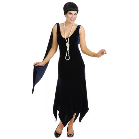 Sandy Speak Easy Flapper Adult Costume Black - Small - Cheap Easy Adult Costumes