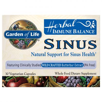 Garden of Life Herbal Immune Balance Sinus 30 Veg (Best Herbal Medicine For Asthma)