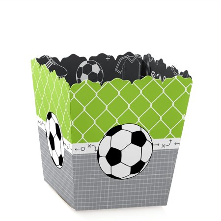 GOAAAL! - Soccer - Party Mini Favor Boxes - Baby Shower or Birthday Party Treat Candy Boxes - Set of 12