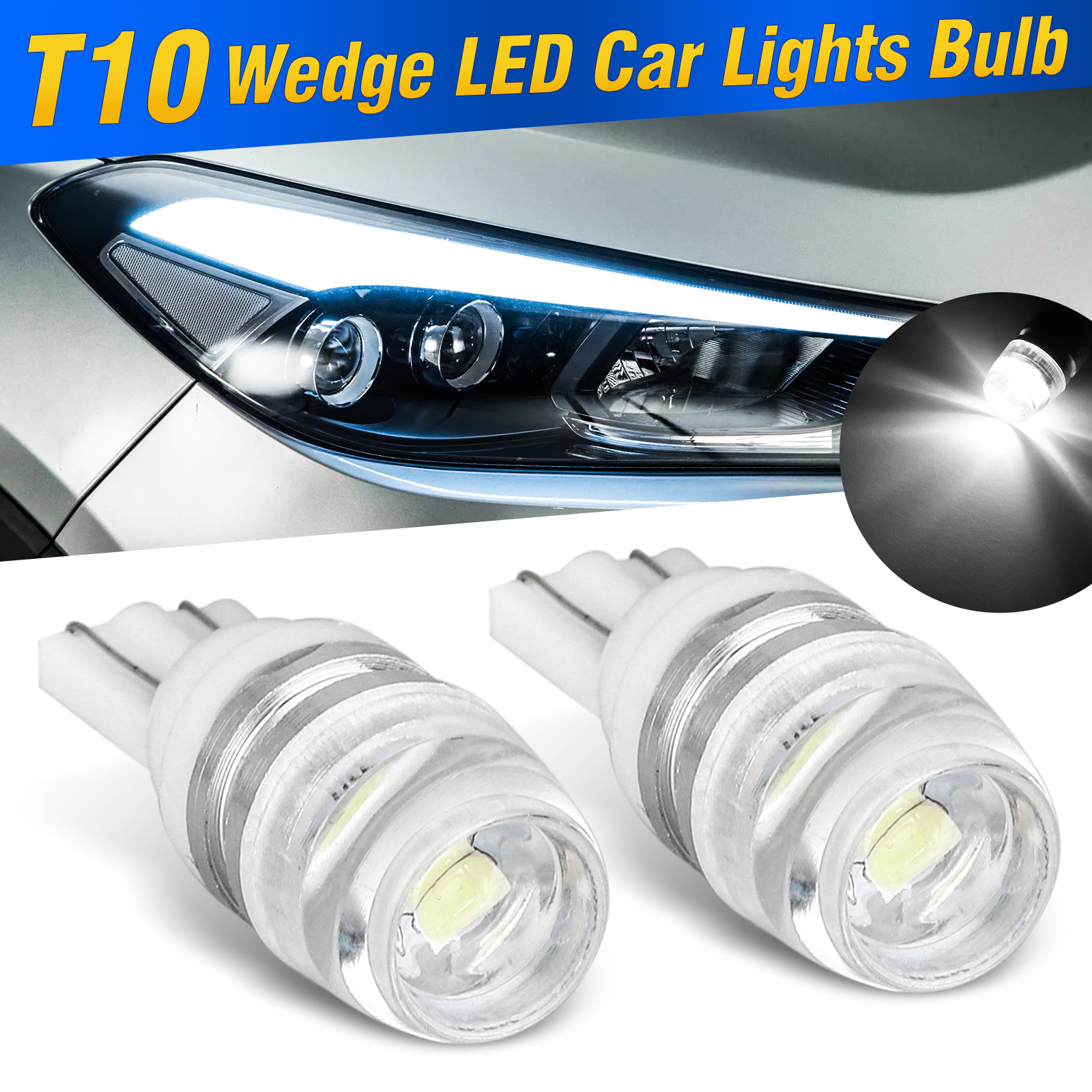 White LED Car Truck RV Number Plate Dome Walkway Light Lamp Auto Lighting