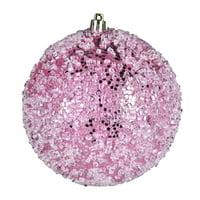 """4.75"""" Pink Glitter Hail Ball 4/Bag"""