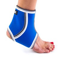 Black Mountain Products Breathable Lightweight Neoprene Black Ankle Blue / Ankle Compression Sleeve - Blue, Medium