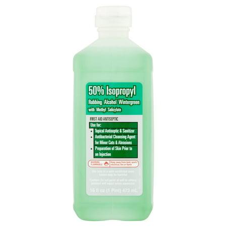 Rubbing Alcohol Wintergreen with Methyl Salicylate, 16 fl oz