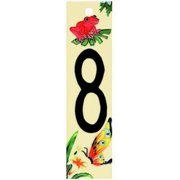 En Vogue NB-008 Natural Series 8 - Decorative Ceramic Art Tile - House Number - 2 in.x8.5 in.En Vogue