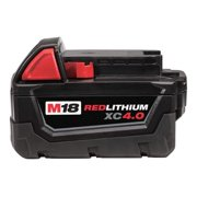 MILWAUKEE M18  REDLITHIUM  XC Battery,  18.0 Voltage,  Li-Ion 48-11-1840