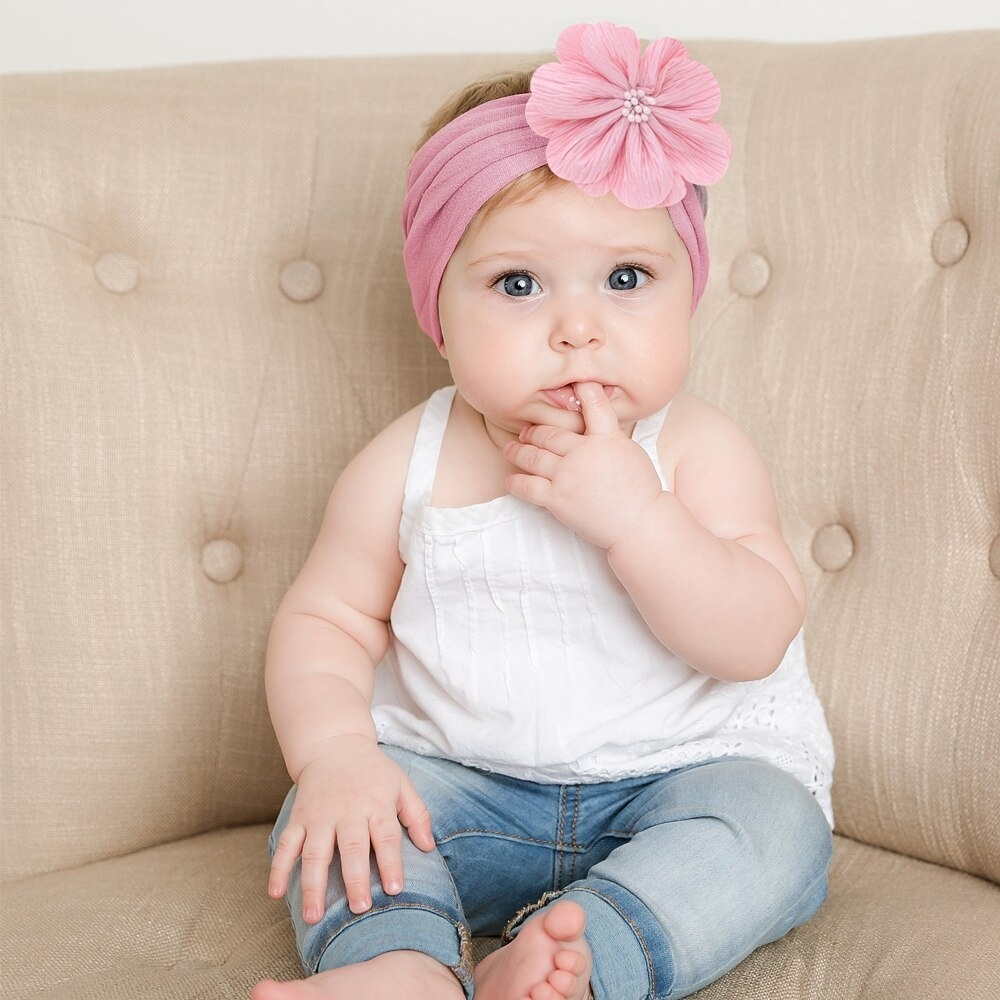 Newborn Baby Headband Infant Girl Hair Band Knotted Turban Bohemia Printed