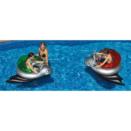 2) Swimline 90797 BatWing Fighter Inflatable Kids Tube Battle Squirt Blasters