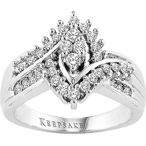 Keepsake Shimmering 1/2 Carat T.W. Diamond, 10kt White Gold Ring