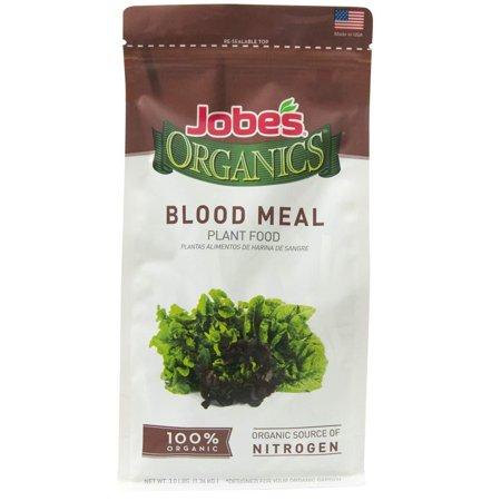 Jobe's Organics 09327 Vegetables, Ferns, Shrubs and Composting, 3 Pound Bag Blood Meal 12-0-0 Organic Nitrogen for Berries, Leafy, 3 lb,.., By Jobes