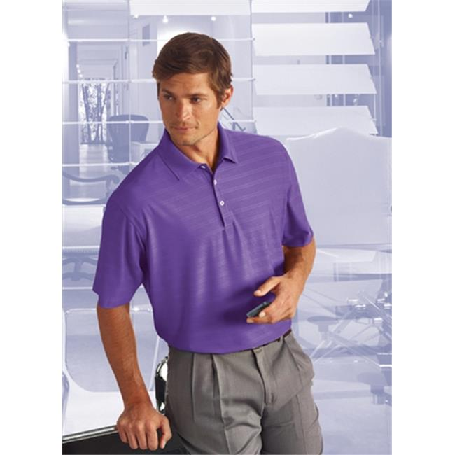Bermuda Sands 795 Mens Cypress Comfort Stretch Textured Polo - Purple Haze, Extra Large