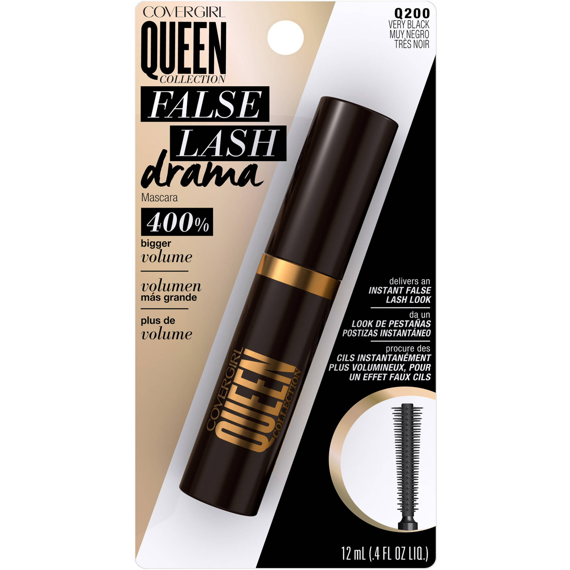COVERGIRL Queen Collection False Lash Drama Mascara, Very Black, .4 fl oz
