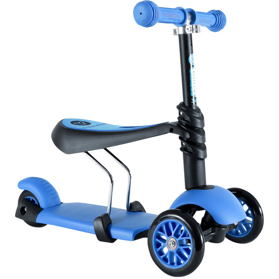 Yvolution 3-in-1 Y Glider, Blue 4L