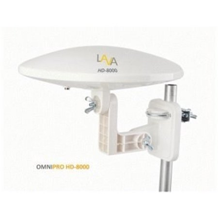 LAVA HD8000 Omnidirectional Outdoor TV Antenna HD TV 4K 360 Degree with Installation