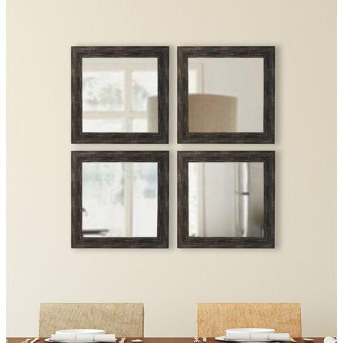 Brayden Studio Square Wall Mirror (Set of 4)