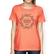 I'm The Best Christmas Decoration Womens Cute Holiday T-Shirt Peach