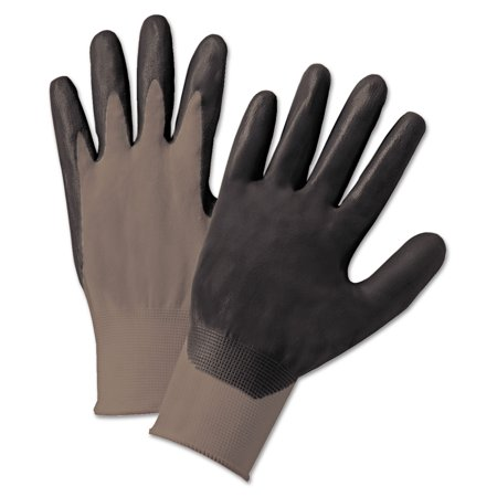 Anchor Brand Nitrile Coated Gloves, Gray/Dark Gray, Nylon Knit, Large, 12 - Child Nylon Glove
