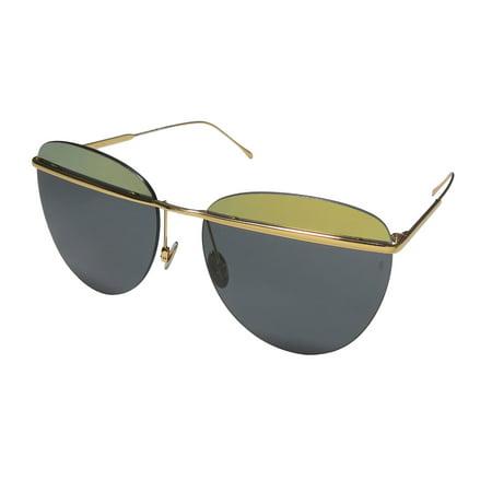 New Sunday Somewhere Tallulah Womens/Ladies Designer Rimless 100% UVA & UVB Gold Premium Segment Prestigious Designer Frame Gray Lenses 58-16-145 (Sunray Sunglasses)