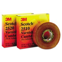 """3M Scotch 2520 Varnished Cambric Tape, 3/4"""" x 60ft -MMM04836"""
